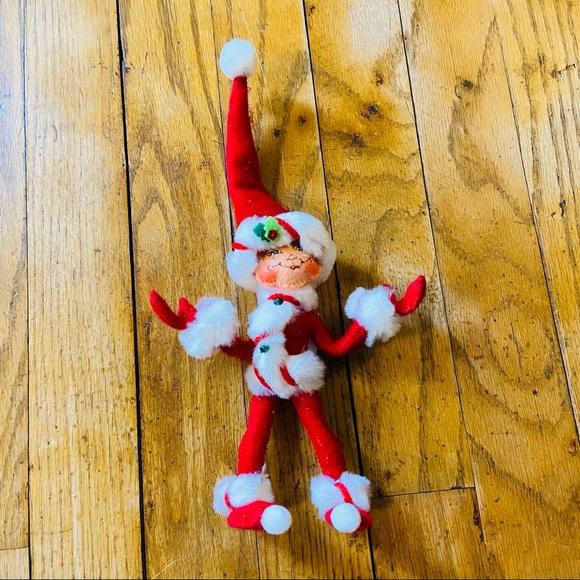 Annalee Red Peppermint Twist Elf